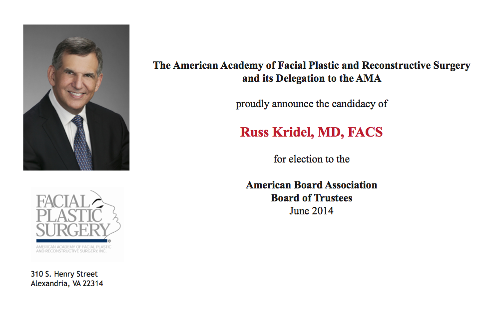 Repairman American academy of facial plastic and reconstructive you took