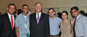 Congressman Poe, Dr. Kridel, medical students and physicians at reception